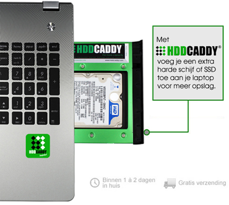 HDD Caddy in laptop